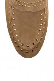 Toral | Loafers met gouden studs Alisa | zand  | Afbeelding 6