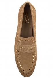 Toral | Loafers met gouden studs Alisa | zand  | Afbeelding 7