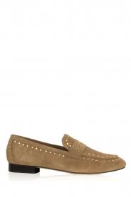 Toral | Loafers met gouden studs Alisa | zand  | Afbeelding 1