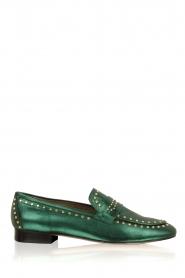 Toral   Loafers met gouden studs Alisa   groen    Afbeelding 1