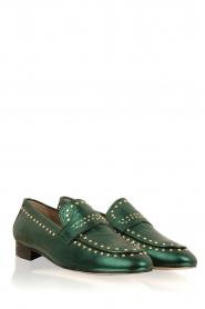 Toral   Loafers met gouden studs Alisa   groen    Afbeelding 3