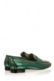 Toral   Loafers met gouden studs Alisa   groen    Afbeelding 4