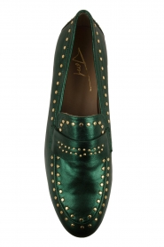 Toral   Loafers met gouden studs Alisa   groen    Afbeelding 6