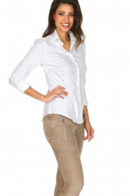 Souad Feriani |  Blouse Basic | white  | Picture 4