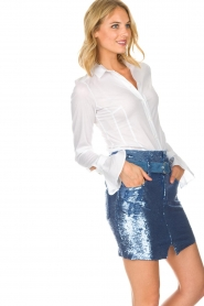 IRO |  Sequin skirt Natou | blue   | Picture 4