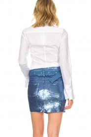 IRO |  Sequin skirt Natou | blue   | Picture 5