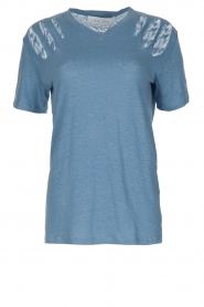 IRO |  Linen top Miffres | blue  | Picture 1