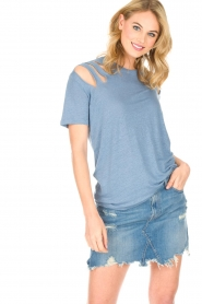 IRO |  Linen top Miffres | blue  | Picture 3