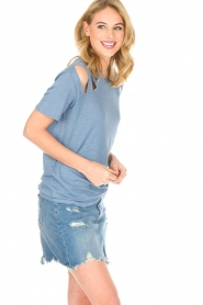 IRO |  Linen top Miffres | blue  | Picture 4