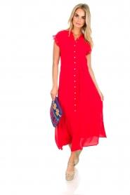 Aaiko | Maxi-jurk Nika | rood  | Afbeelding 2