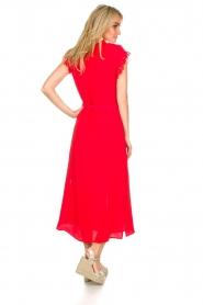 Aaiko | Maxi-jurk Nika | rood  | Afbeelding 4