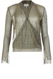 Dante 6 | Overslag blouse Fushion | goud  | Afbeelding 1