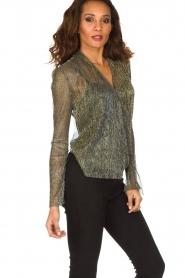Dante 6 | Overslag blouse Fushion | goud  | Afbeelding 5