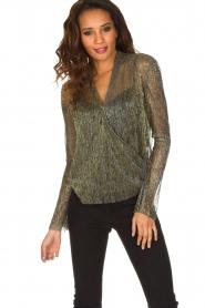 Dante 6 | Overslag blouse Fushion | goud  | Afbeelding 2