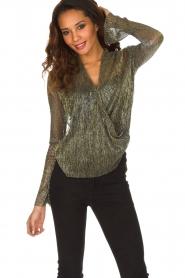 Dante 6 | Overslag blouse Fushion | goud  | Afbeelding 4