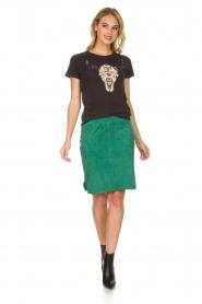 Dante 6 |  Suéde skirt Comet | green  | Picture 3