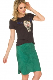 Dante 6 |  Suéde skirt Comet | green  | Picture 4