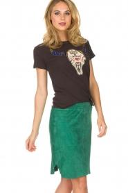 Dante 6 |  Suéde skirt Comet | green  | Picture 2