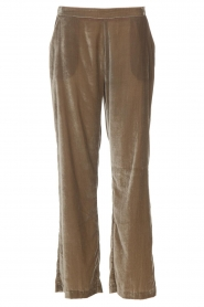 Velvet pants Seduce | taupe