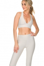 Varley |  Sports bra Brooks Crop | off-white  | Picture 4