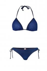 Becksöndergaard | Triangelbikini Glitter | blauw  | Afbeelding 1