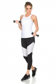 L'URV |  Sports leggings Race Ready | black white  | Picture 3