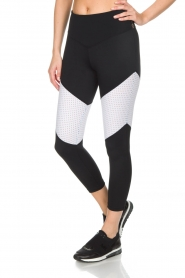 L'URV |  Sports leggings Race Ready | black white  | Picture 4