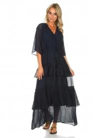 Munthe | Maxi-jurk Personality | blauw  | Afbeelding 3