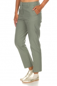 Essentiel Antwerp |  Trousers Runched | green  | Picture 5