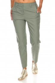 Essentiel Antwerp |  Trousers Runched | green  | Picture 2