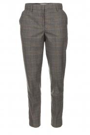 Essentiel Antwerp |  Checkered trousers Rock | grey  | Picture 1