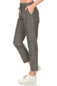 Essentiel Antwerp |  Checkered trousers Rock | grey  | Picture 4