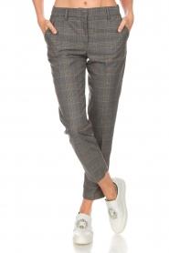 Essentiel Antwerp |  Checkered trousers Rock | grey  | Picture 3