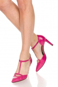 Noe |  Leather pumps Hot Pink | pink  | Picture 2