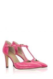 Noe |  Leather pumps Hot Pink | pink  | Picture 3