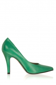 Noe |  Leather pumps Nicole | Green  | Picture 1