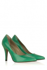 Noe |  Leather pumps Nicole | Green  | Picture 3