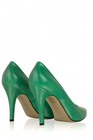 Noe |  Leather pumps Nicole | Green  | Picture 4