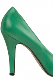 Noe |  Leather pumps Nicole | Green  | Picture 5