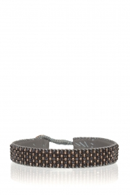 Tembi |  Leather bracelet with beads Checker | blue  | Picture 1