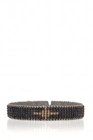 Tembi | Leren armband met kralen Diamond Center | blauw  | Afbeelding 1