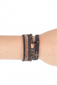 Tembi | Leren armband met kralen Diamond Center | blauw  | Afbeelding 2