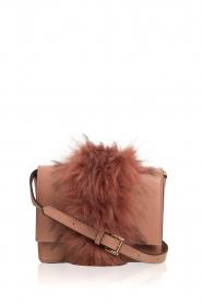 Essentiel Antwerp |  Shoulder bag with faux fur Rioca | pink  | Picture 1