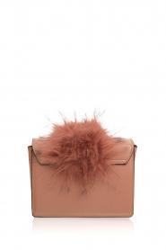 Essentiel Antwerp |  Shoulder bag with faux fur Rioca | pink  | Picture 4