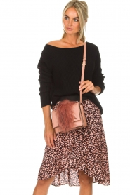 Essentiel Antwerp |  Shoulder bag with faux fur Rioca | pink  | Picture 2