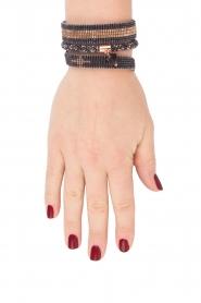 Tembi | Leren armband met kralen Bamboo Border | blauw  | Afbeelding 3