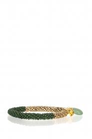 Tembi | Armband van kralen Beaded Crochet | groen  | Afbeelding 1