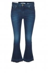 Mid-rise flared jeans Marbella | donkerblauw