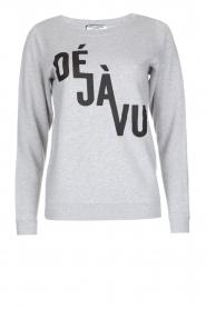 French Disorder | Luxe sweater Déjà vu | lichtgrijs  | Afbeelding 1