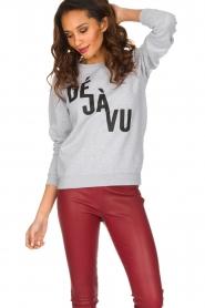 French Disorder | Luxe sweater Déjà vu | lichtgrijs  | Afbeelding 2